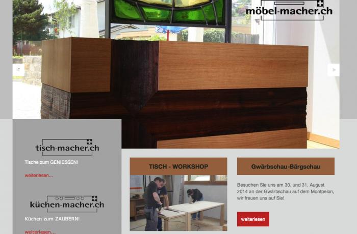 Website www.bieli-schreinerei.ch