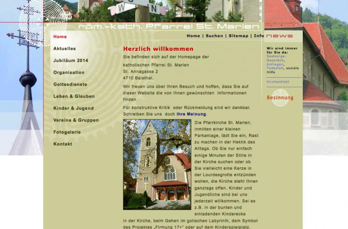 Homepage www.kath-pfarrei-balsthal.ch