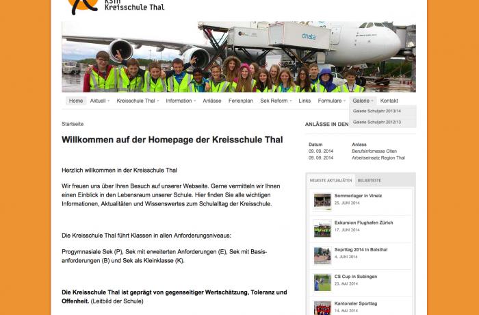 Homepage www.ksth.ch