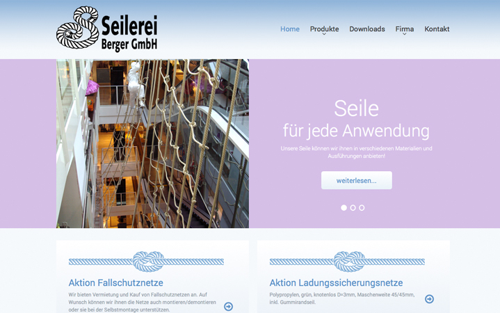 Website www.seilerei-berger.ch