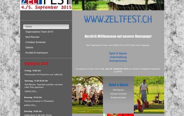 Website www.zeltfest.ch