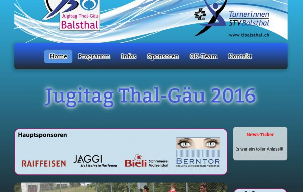 Website www.jugitag.tibalsthal.ch