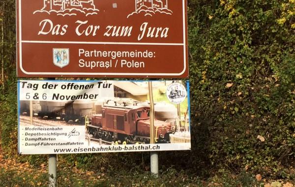 Werbung Dorfeingang