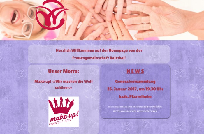 Website www.frauengemeinschaft-balsthal.ch